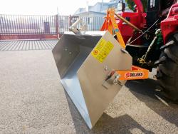 manual transport skovl med dump for traktor prm 140 l