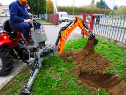 minigraver til universal kompakt traktor dk 950