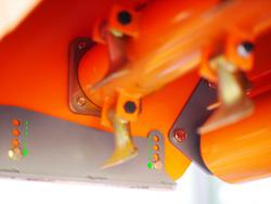 slagleklipper med hammerslagler for traktorer med reversibel montering hydraulisk sideforskydning for plantager mod rino 140 rev