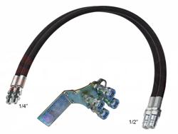 2 hydraulik slange 4 00m lynkoblings sæt