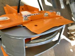 hydraulisk skovklo greb til minigraver model cf 10