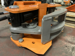 hydraulisk skovklo greb til minigraver model cf 10r
