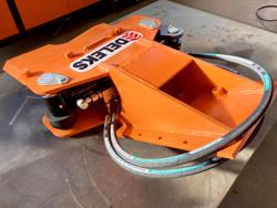 hydraulisk skovklo greb til minigraver model cf 11