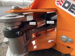 hydraulisk skovklo greb til minigraver model cf 18h