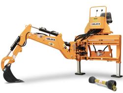universal bagmontered rendegraver med skovl til traktor mod drs 2000t