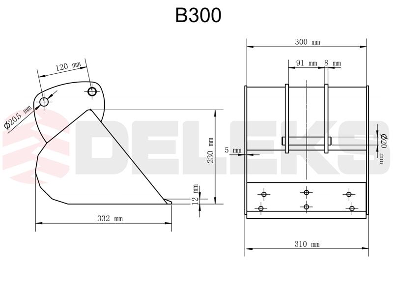 skovl-til-mini-gravemaskin-b-300
