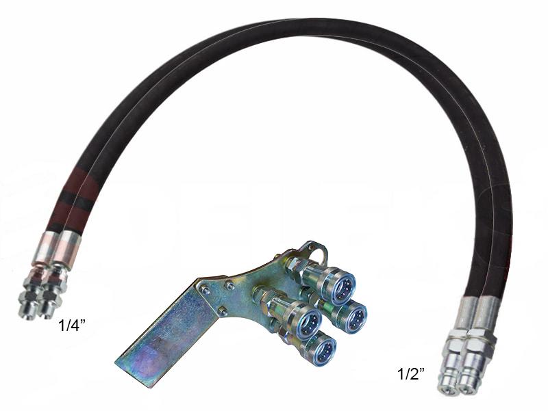 2-hydraulik-slange-4-00m-lynkoblings-sæt-da
