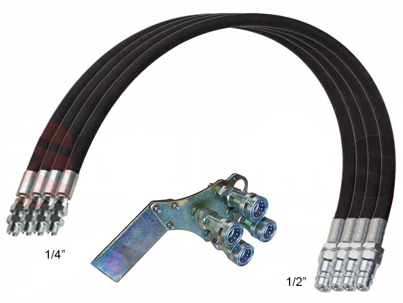 4-hydraulik-slange-4-00m-lynkoblings-sæt
