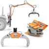 hydraulisk tømmer klo grab til træ og små træstokke hydrauliske rotatorer og træhåndteringsudstyr