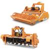 jordfræsere til traktorer stennedlægger med rulle og fræse for blandning lufting af underlag i fjerkræstaller med fritgående dyr