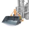 skovl med mekanisk og hydraulisk tip til gaffeltrucker