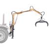 skovkraner til traktorer med hydraulisk klo og 360 roterende rotor til håndtering af træstokke