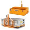 balanceret skovl med tip og transportkasser til traktorer