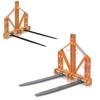 pallegafler til lille og mellemstor traktor høgaffel med spyd til høballer til flyttning løftning og forflyttning af paller eller genstande